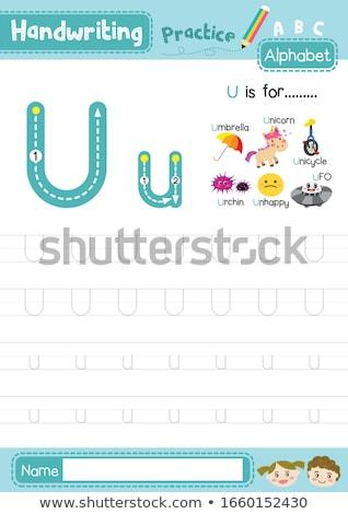 手紙 一輪車 実例 子供 子 背景 ストックフォト © bluering
