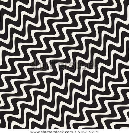 Vektor végtelenített feketefehér kézzel rajzolt hullámos átló Stock fotó © CreatorsClub