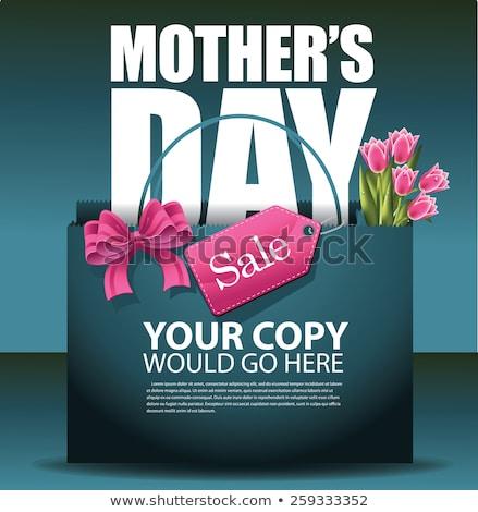 Mães dia eps 10 tulipas coração Foto stock © beholdereye