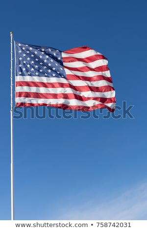 flag of the usa against a blue sky stock photo © nobilior