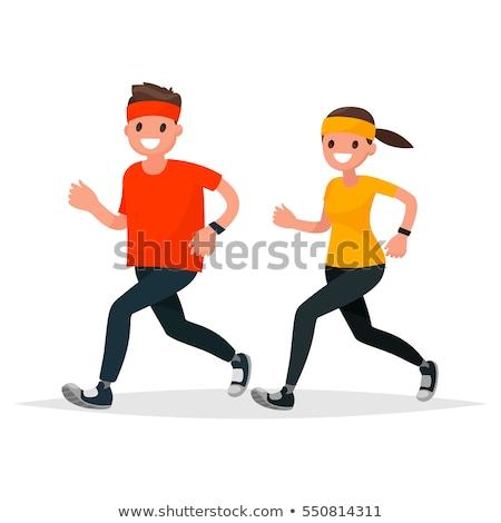 ランナー ジョグ スタイル ベクトル 男 スポーツウェア ストックフォト © robuart