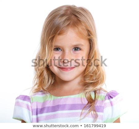 甘い ブロンド 少女 肖像 白 美少女 ストックフォト © Giulio_Fornasar