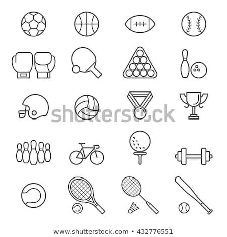 esportes · ícones · preto · homem - foto stock © kali