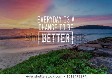 Retro citaat alledaags kans beter Stockfoto © balasoiu