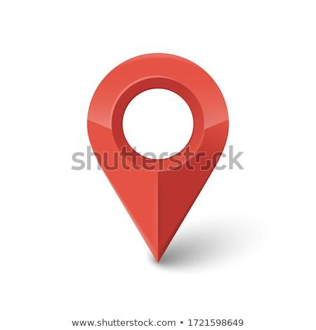 piros · pont · térkép · utazás · tervez · papír - stock fotó © oakozhan