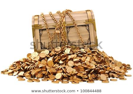 胸 · ヴィンテージ · お金 · 木材 · ボックス · 石 - ストックフォト © tussik