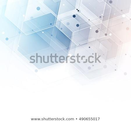 Absztrakt mértani tömb vonalak kapcsolat technológia Stock fotó © SArts
