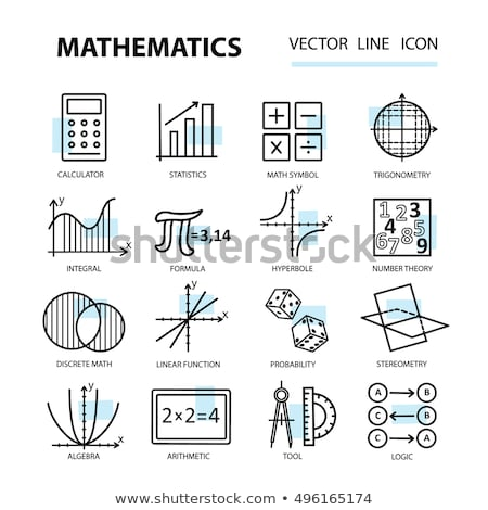 Math ontwerp student onderwijs leraar wetenschap Stockfoto © sdCrea