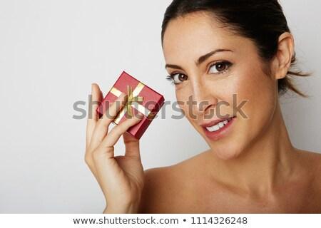Portrait of undress elegant woman. Studio fashion photo. Stock photo © artfotodima