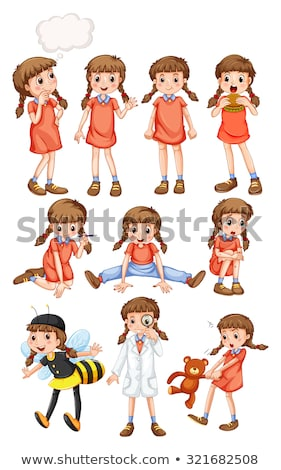 little girls in different costumes stock photo © bluering
