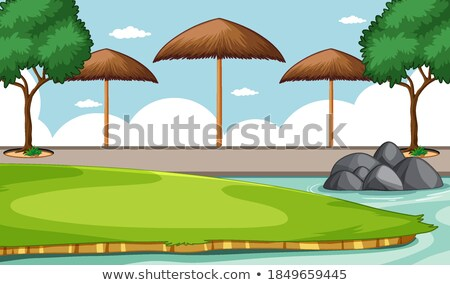 Scene of zoo without animal Stock photo © bluering