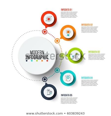 Foto stock: Abstrato · modelo · círculos · vermelho · vetor