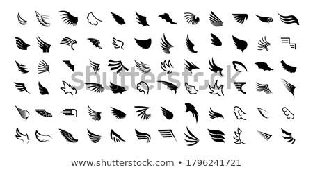 Działalności anioł gryzmolić projektu ikona napis Zdjęcia stock © tashatuvango