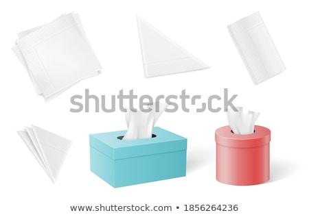 Paper napkins or handkerchiefs Stock photo © studiostoks