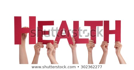 Preventive care. Medical Concept on Red Background. Stock photo © tashatuvango
