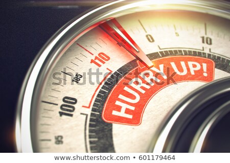 Hurry Up - Caption on Conceptual Dial with Red Needle. 3D. Stock photo © tashatuvango