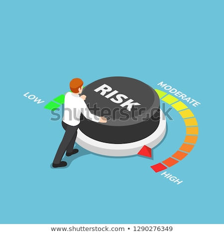 risk assessment button 3d stock photo © tashatuvango