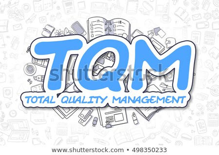 TQM - Doodle Blue Inscription. Business Concept. Stock photo © tashatuvango