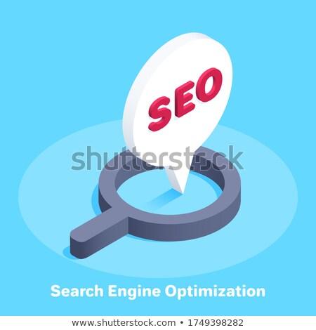 web analytics   cartoon blue inscription business concept stock photo © tashatuvango