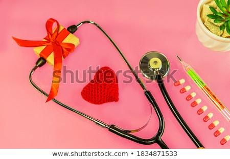 impresso · diagnóstico · vermelho · turva · texto · médico - foto stock © tashatuvango