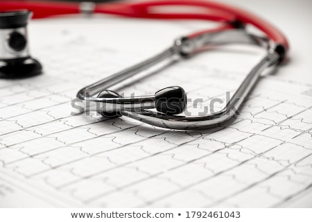 closeup photo of ekg monitor stock photo © bezikus