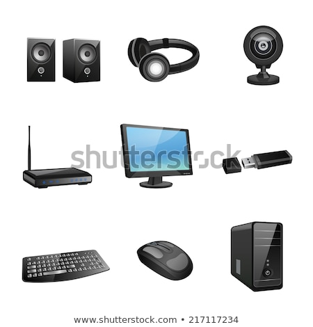 Keyboard isolated. accessory computer. Vector illustration Stock photo © popaukropa