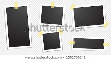 photo frame with adhesive tape in transparent background stock photo © cammep