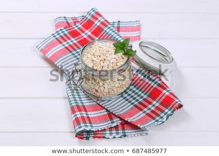 Jarra branco grupo semente saudável Foto stock © Digifoodstock