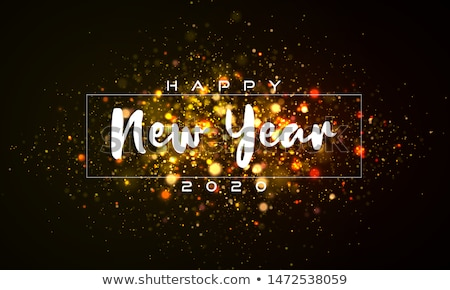 Stock photo: Glowing Colorful Christmas Lights for Xmas Holiday and Happy New Year Greeting Cards Design on Shiny