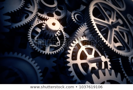 Engineering Industry Concept. Golden Cogwheels. Stock photo © tashatuvango