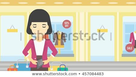 Kadın cüzdan depolamak vektör Stok fotoğraf © RAStudio