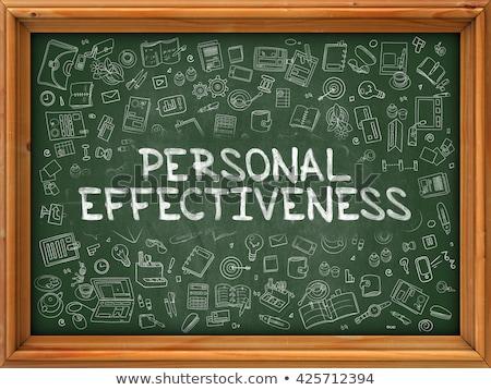 Personal Effectiveness - Hand Drawn on Green Chalkboard. Stock photo © tashatuvango