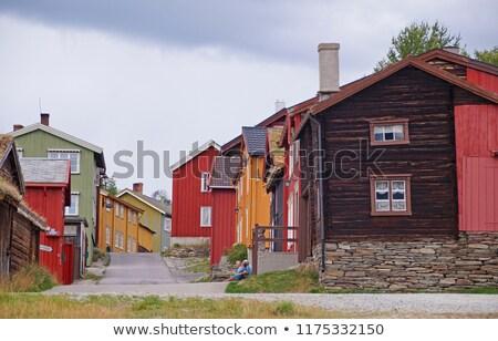 古い マイニング 町 ノルウェー ユネスコ 遺産 ストックフォト © jaylopez