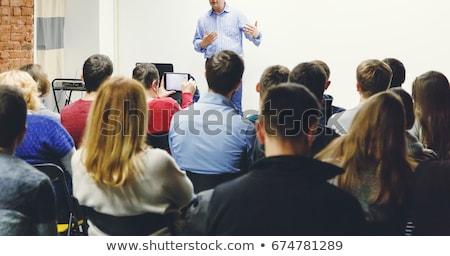 Język · polityk · ludzi · seminarium · człowiek · grupy - zdjęcia stock © studiostoks