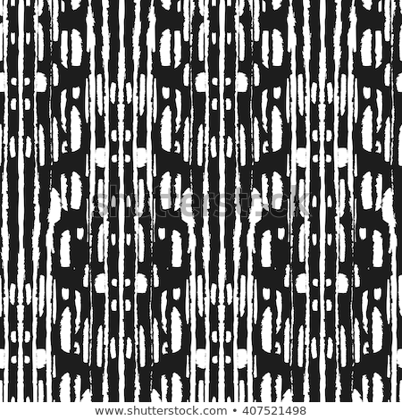 Arrows grunge seamless vector Aztec pattern, Tribal art wallpaper, Indian Navajo design in black and Stock photo © RedKoala