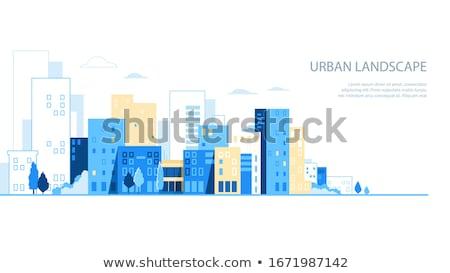 Negócio arranha-céu vetor desenho animado ilustração contemporâneo Foto stock © RAStudio