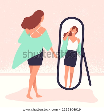 Dressing mirror on stand vector illustration. Stock photo © RAStudio