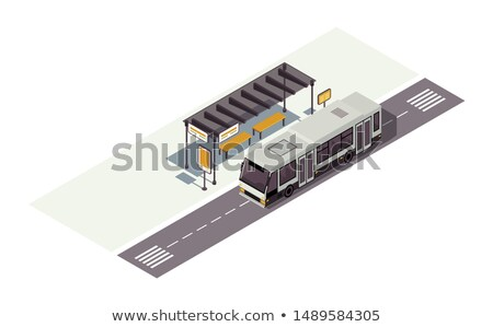 Modern city transport isometric 3D elements Stock photo © studioworkstock