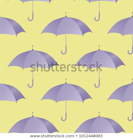 Stock photo: Ultra violet umbrella seamless pattern. Vector illustration.