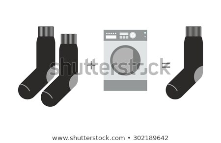 Socks and a washing machine. Riddle where you lose one sock afte Stock photo © popaukropa