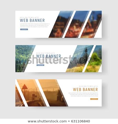 Web banner vector ontwerpsjabloon ontwerp patroon Stockfoto © rizwanali3d