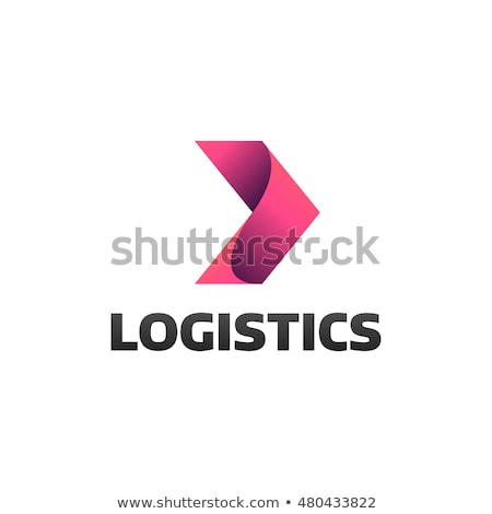 Stock photo: abstract arrow logistic delivery courier transport service logo.
