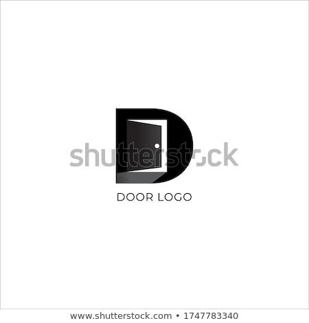 буква · d · логотип · архитектура · двери · дома · шаблон - Сток-фото © taufik_al_amin