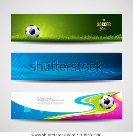 Football Soccer Background In Grunge Style Stock fotó © Sarunyu_foto