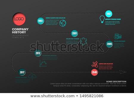egyszerű · idővonal · tények · ikonok · vektor · infografika - stock fotó © orson