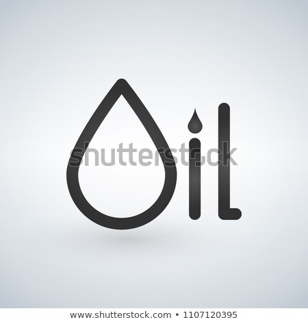 Oil typographic concept, symbol of a drop. Vector illustration isolated on modern background. Stock photo © kyryloff