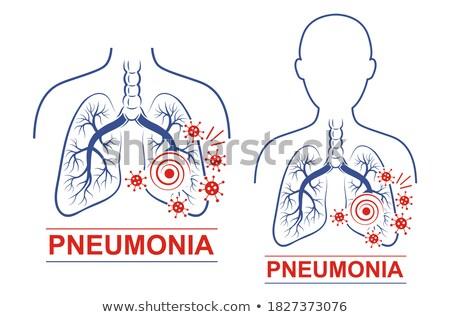 homem · terrível · gripe · imagem · água · papel - foto stock © bluering