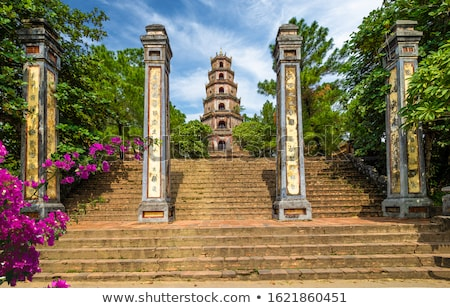 Vietnam, Hue. Tower of Celestial Lady at Thien Mu Pagoda. Stock photo © romitasromala