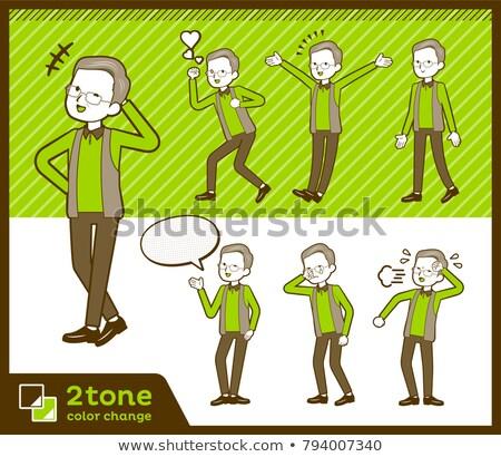 Tipo chaleco amor corazón hombres verde Foto stock © toyotoyo