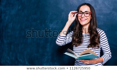 Női tanár irodalom könyvek rajz karakter Stock fotó © Voysla
